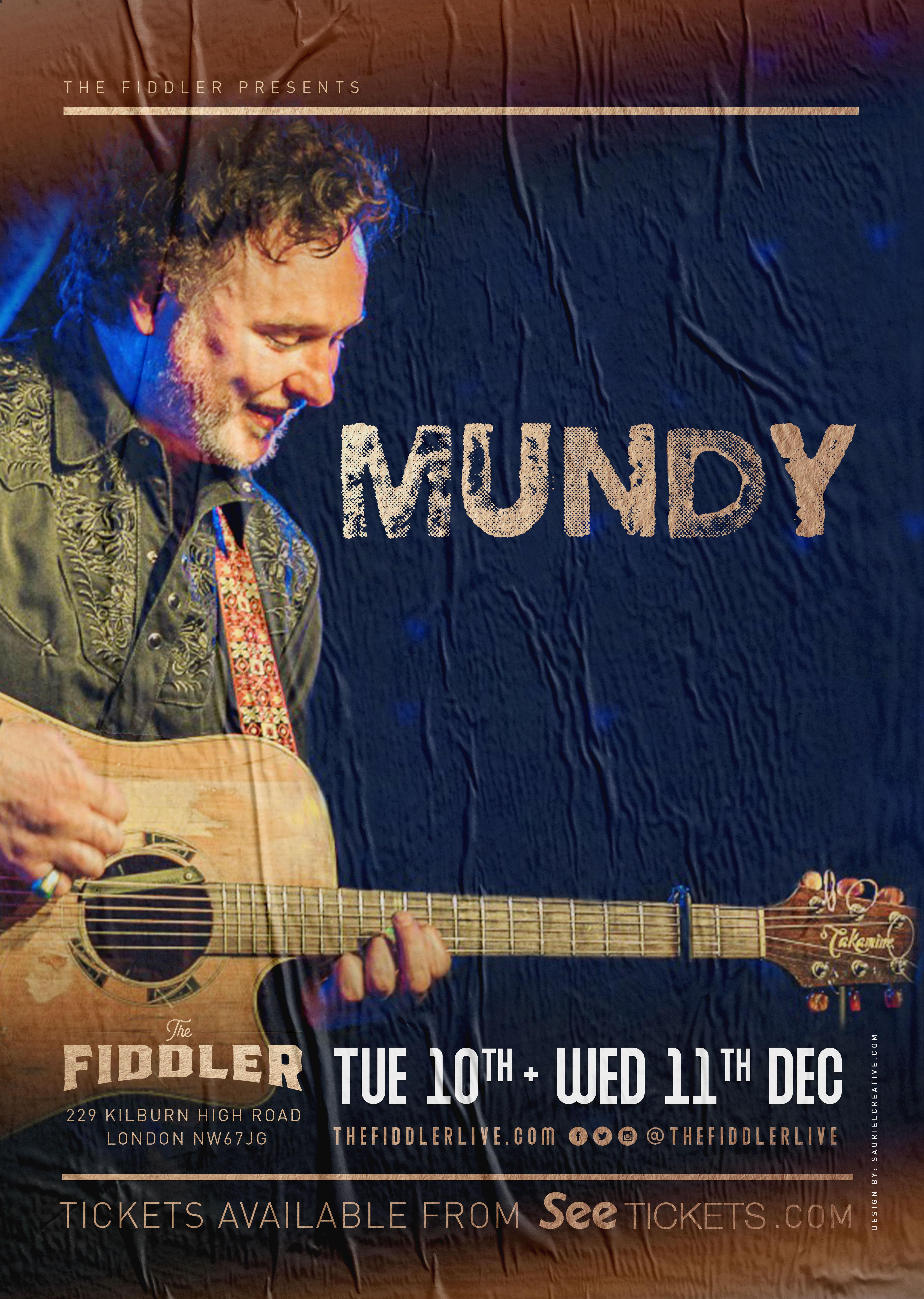 Mundy at The Fiddler,London.