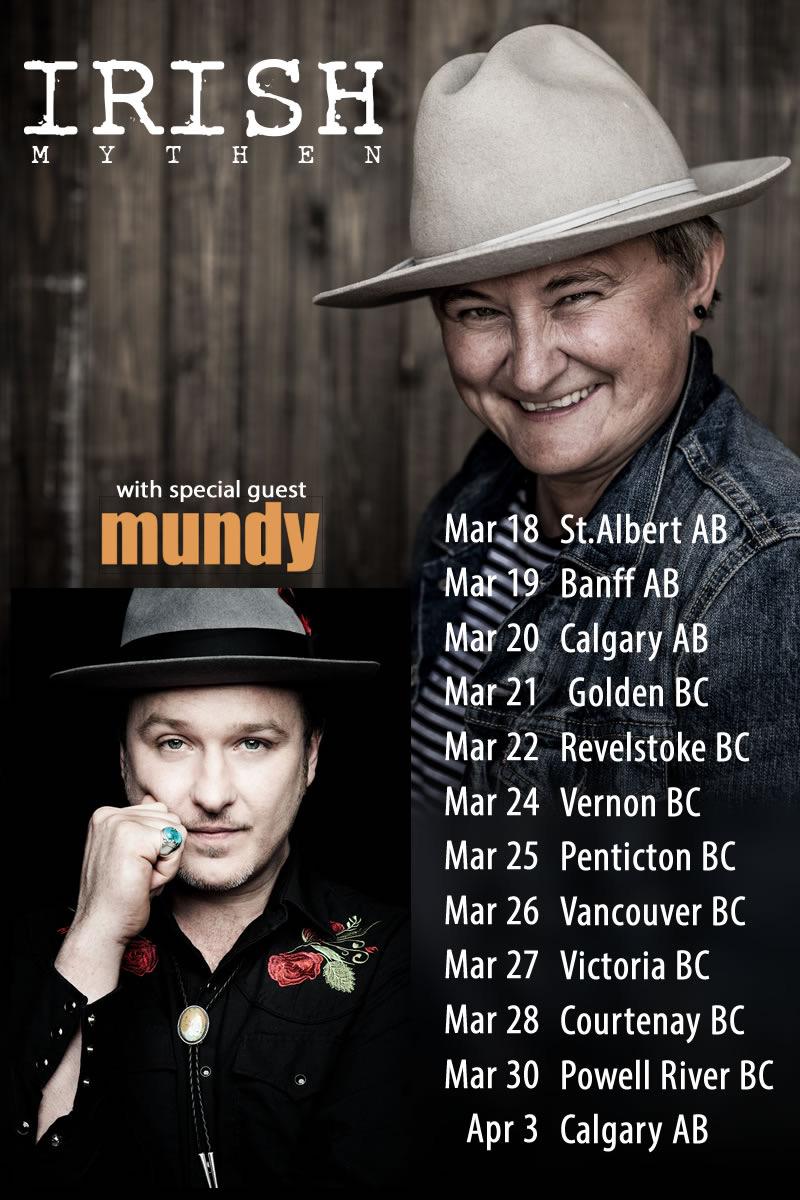 Mundy-Irish Mythen Tour Dates